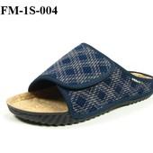 100-FM-1S-004 Тапочки мужские домашние Inblu цвет - синий, размеры 40-46