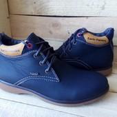 Ботинки зима КОЖА синие и черные
