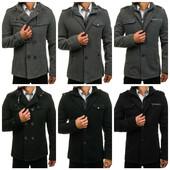 Серое и черное мужское пальто