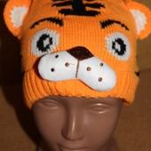 шапки вязанные Тигрик