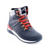 Зимние кожаные мужские ботинки (арт_084)
