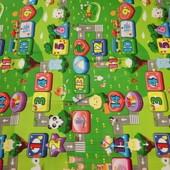 Коврик детский игровой развивающий бебипол аналог разные рисунки