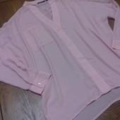 Новая нежная блузка от французского бренда Kiabi.  Цвет пастельно-розовый. Размер европейский 36 (С-