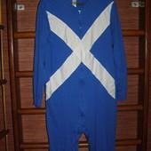 Пижама хлопковая, мужская, размер S, рост до 170 см