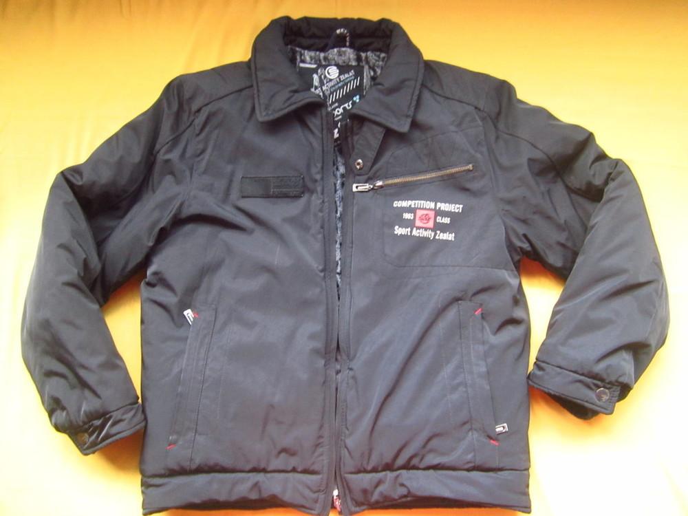 Теплющая зимняя курточка чёрного цвета фото №1