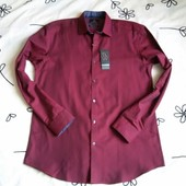Крутая новая бордовая рубашка T&W, размер 15 1/2