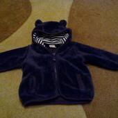 Фирменная курточка - меховушка от 2-4 месяцев
