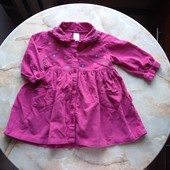 Вельветовое платье фирмы Adams на возраст 6-9 мес (реально до 18 мес)