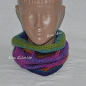 Яркий нежный шарф, снуд, хомут. ручная работа, хенд мейд