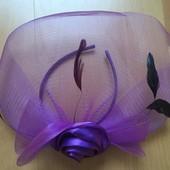 Очень красивый фиолетовый обруч с цветком