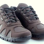 Кроссовки Демиссезон на спортивной подошве коричневые (Z-15)