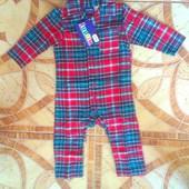 Детская пижама-человечек на мальчика, 62-68, 86-92