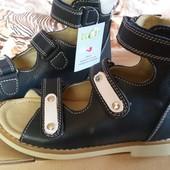 Новые кожаные ортопедические босоножки Экоби, 27р, стелька 18,2см.