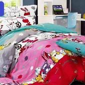 Комплект постельный детский и подростковый разные расцветки