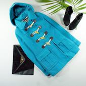 Xs-S George стильное дафл-пальто ультрамаринового цвета!0217