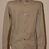 Классическая рубашка горчичного цвета