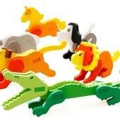 Деревянный обьемный 3D пазл Животные, MD 0909