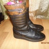(№і18)зимние кожаные сапоги 40 р