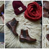 Кожаные ботинки челси,р-р 35
