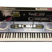 Детский синтезатор MQ 020 FM микрофон, сетевой адаптер, 54 клавиши
