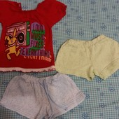 Комплектик на девочку, шорты на 3 года