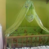 Кроватка+матрас+постельное+Бесплатная Доставка