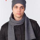 Комплект удлиненная шапка и шарф и для мужчин Classic UniX - 5 цветов