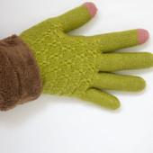 Вязаные перчатки женские подходят для сенсорных экранов.