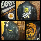 Крутая ►кожаная куртка Diesel (размер S)