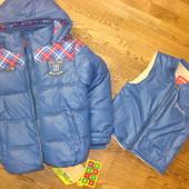 Куртка зима КІКО 2-в-1 7-10років. знижка