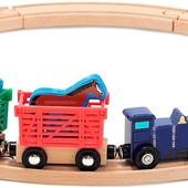 Деревянный набор «Поезд с животными», Melissa&Doug