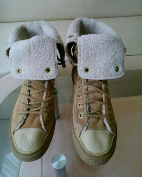 Замшевые демисезонные кеды ботинки Convers all star, оригинал, 39 размер. фото №2