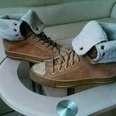 Замшевые демисезонные кеды ботинки Convers all star, оригинал, 39 размер.