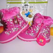 Зимние ботинки р23-28 для девочки ТМ Y-top