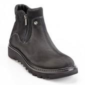 мужские кожаные ботинки зима Код :076H