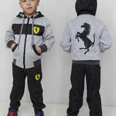 Распродажа! Теплый спортивный костюм для мальчика 146 см