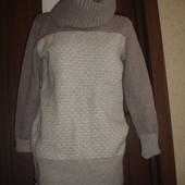 Фирменный Gap шерстяной свитер на 46-48 размер удлиненный