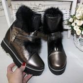 Зимние кожаные ботинки Hermes.3 цвета