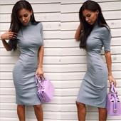 Платье-миди в деловом стиле 2 цвета