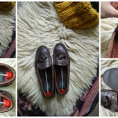 Стильные кожаные мужские мокасины-туфли,р-р 45