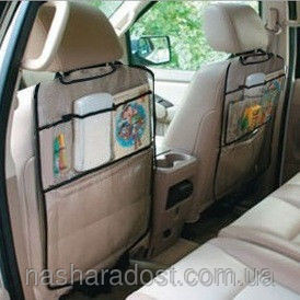 Защитный чехол на спинку переднего сиденья с карманами фото №1