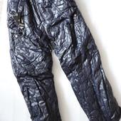 Теплые зимние брюки на синтепоне и на флисе 8-9 лет