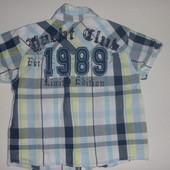 Яркая модная рубашка на 1-2 года