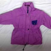 курточка парка на девочку демисезонная утепленная р.98 104 хорошее состояние