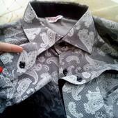 абалденная, фирменная рубашка. размер XL. смотрите замерчики.