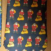 544 Новогодний галстук с Санта Клаусами FTR