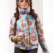 Модная женская куртка 42-46р