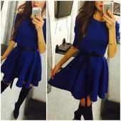 Платье синие красное