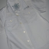 красивая рубашка (лён+котон) на 3-4 года