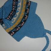 вязанная шапка на 10-12 лет (акрил+шерсть)